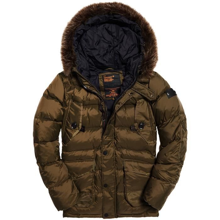 Doudoune Taille VERT Chinook Down XL SUPERDRY Longline Homme IH29WDE