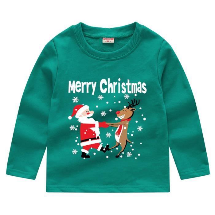 Bébé Noël Pull Neuf Enfants Noël Fille Garçon Sweat 6-24 mois