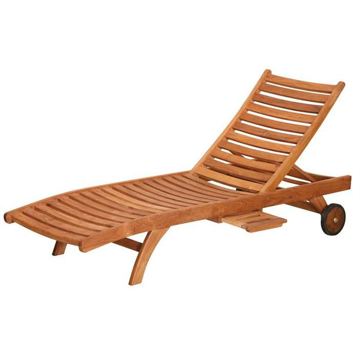 chaise longue bain de soleil galbe en bois teck achat vente chaise longue chaise longue bain. Black Bedroom Furniture Sets. Home Design Ideas