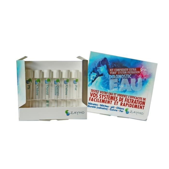 Kit d 39 analyse eau comparatif extra verif zayho achat for Analyse air maison