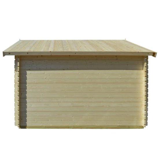Abri de jardin pour bûches de bois 34 mm 4 x 4 m Bois massif