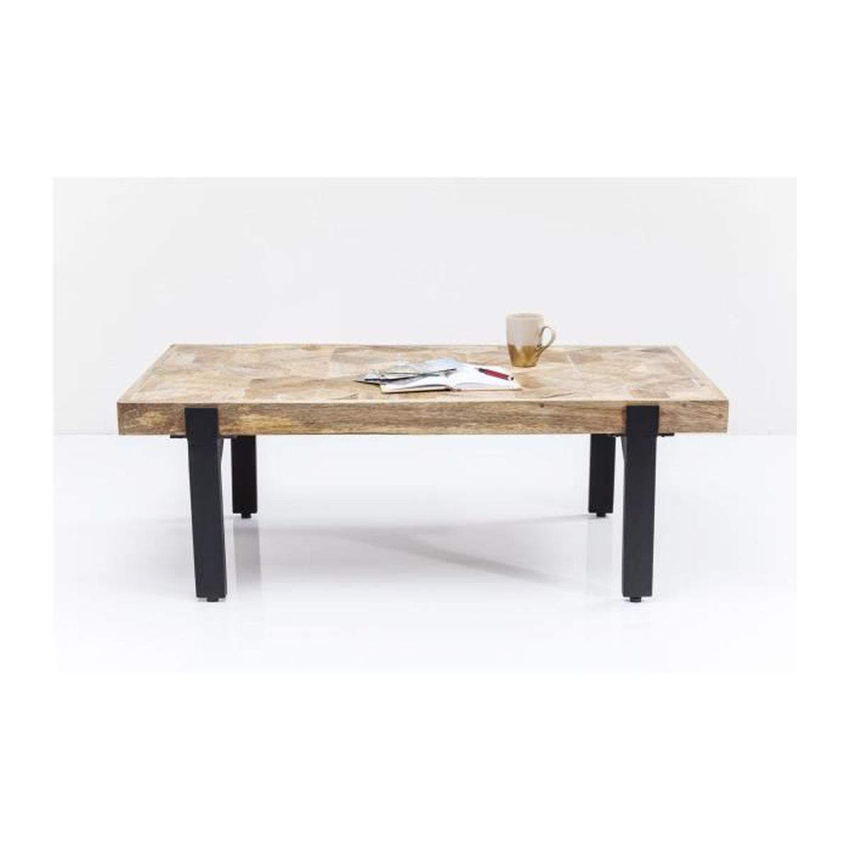 Table basse tortuga 120x60cm kare design achat vente for Table basse hauteur 60 cm