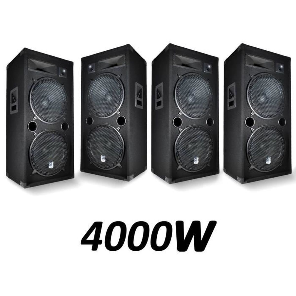 4 enceintes passives sono pa 2x15 38cm 4000w 3 voies bassreflex bm sonic lsc215 enceinte et. Black Bedroom Furniture Sets. Home Design Ideas