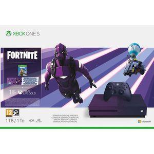 CONSOLE XBOX ONE Xbox One S 1 To Fortnite + 1 mois d'essai au Xbox