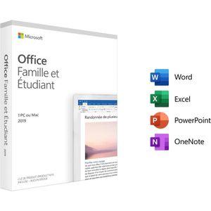 BUREAUTIQUE Logiciel Microsoft Office Famille et Etudiant 2019