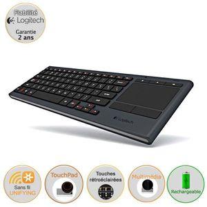 CLAVIER D'ORDINATEUR Logitech clavier avec touchpad - Illuminated K830