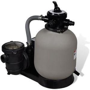 POMPE - FILTRATION  Pompe à filtre sable piscine 600 W 17000 l/h