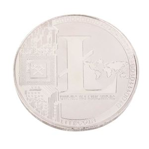 CARTE A COLLECTIONNER Or Plaqué Commémoratif Or LTC Litecoin à collectio