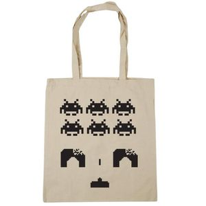 SAC SHOPPING Women's Space Invaders Tote Shopping Gym Beach Bag