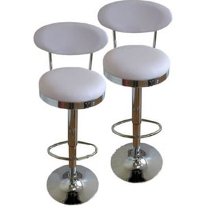 tabouret de cuisine blanc achat vente tabouret de cuisine blanc pas cher cdiscount. Black Bedroom Furniture Sets. Home Design Ideas