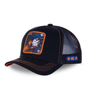 Baseball Chapeaux Baseball Cap Casquette Trucker Dragon Ball Z San Goku Super Saiyan Noir et Orange Unisexe l/ég/ère