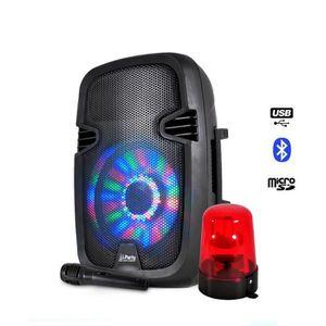 ENCEINTE ET RETOUR Enceinte batterie 300W à LEDs USB/BLUETOOTH/FM/SD