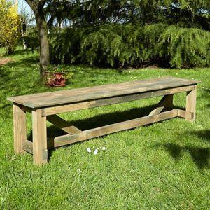 BANC D'EXTÉRIEUR Banc de jardin 4 places en bois Normand