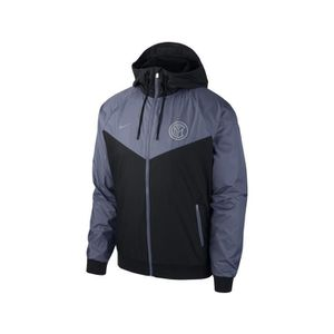reputable site a0e3b d56ab TENUE DE FOOTBALL Veste à capuche Inter Milan Windrunner Noir