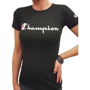 T-SHIRT Tee Shirt Champion femme col rond 210972 Noir