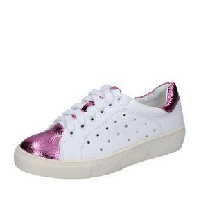 BASKET FRANCESCO MILANO Chaussures Femme Baskets cuir Bla