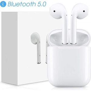 COMMUTATEUR CASQUE i12 TWS Écouteurs Bluetooth 5.0 sans Fil avec cont