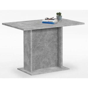 TABLE À MANGER COMPLÈTE Table de salle à manger coloris gris béton LA - Di