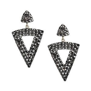 Boucle d'oreille #2058▓1 paire simples femmes Pierced Goutte Obsidi
