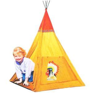 TENTE TUNNEL D'ACTIVITÉ Tente Enfant Tipi pour Enfant Indien - avec Tapis