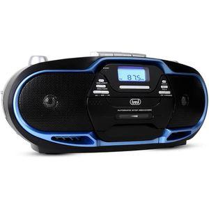 RADIO CD CASSETTE TREVI 0057402 Radio CD Cassette - USB - Noir et bl