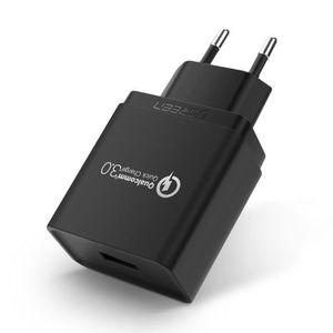 CHARGEUR TÉLÉPHONE UGREEN Chargeur USB Secteur Quick Charge 3.0 18W U