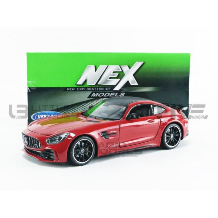Voiture Miniature de Collection - WELLY 1/24 - MERCEDES-BENZ AMG GT-R - 2017 - Red - 24081R