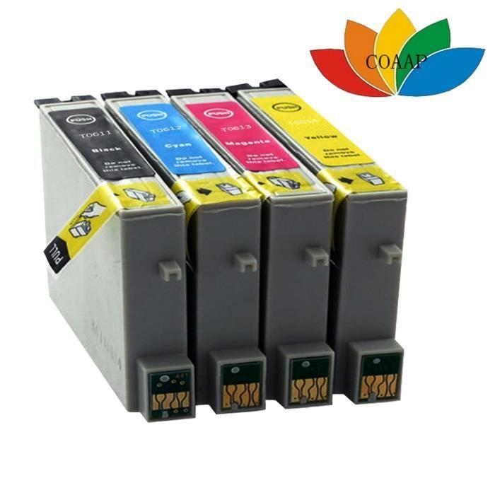 4PK Compatible T0611 - Cartouche d'encre T0614 Pour imprimante EPSON Stylus D88 / D 88