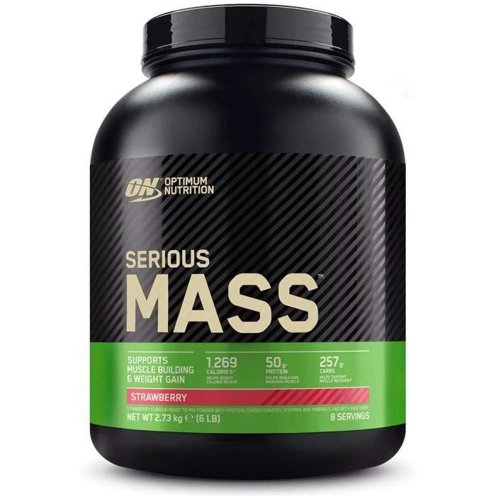 Optimum Nutrition Serious Mass, Mass Gainer avec Whey, Proteines Musculation Prise de Masse avec Vitamines, Creatine et Glutamin198
