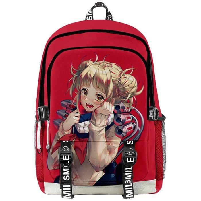 Anime My Hero Academia Himiko Toga Sac à Dos Scolaire, Anime Sac à Dos à Imprimé 3D Collège Fille Garçon Laptop Backpack Cartable