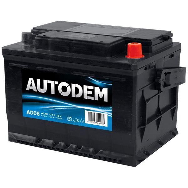 Batterie Autodem Autodem AD08 62Ah 460A - 4047023240088