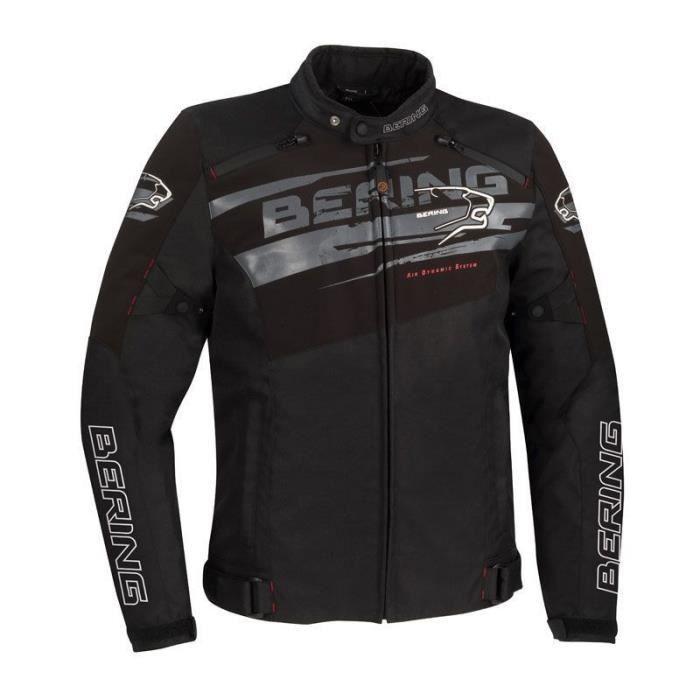BERING Blouson moto Vikos - Homme - Noir et gris