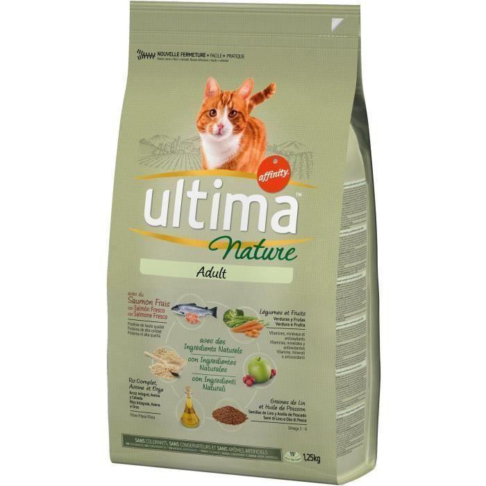 ULTIMA Croquettes au saumon - Pour chat - 3 x 1,25 kg