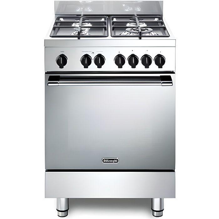 Gemma GEMMA 66 M2 ED Cuisinière à gaz avec four électrique, 4 feux, 60 x 60 cm, couleur inox
