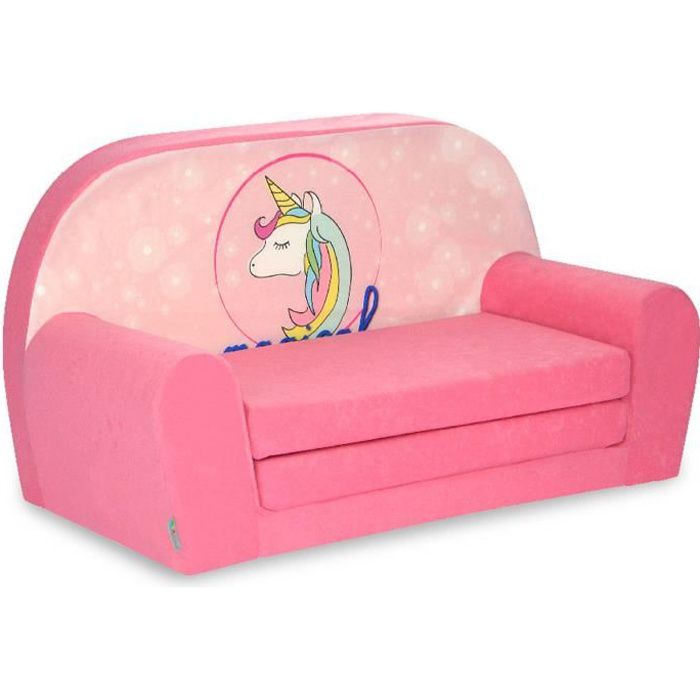Mini canapé fille licorne