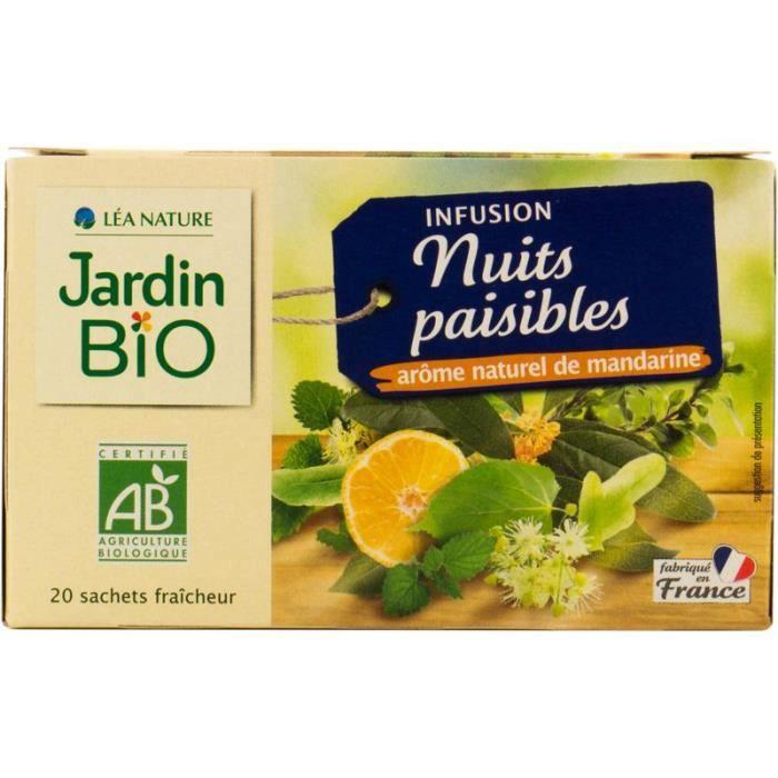 JARDIN BIO Infusion nuit paisible bio - 30g