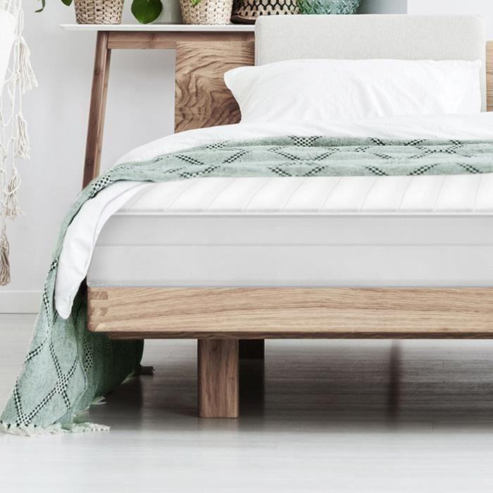 Matelas 200x220 matelas ferme confortable housse lavable pas cher anti-acarien matelas sommeil réparateur, épaisseur 15 cm