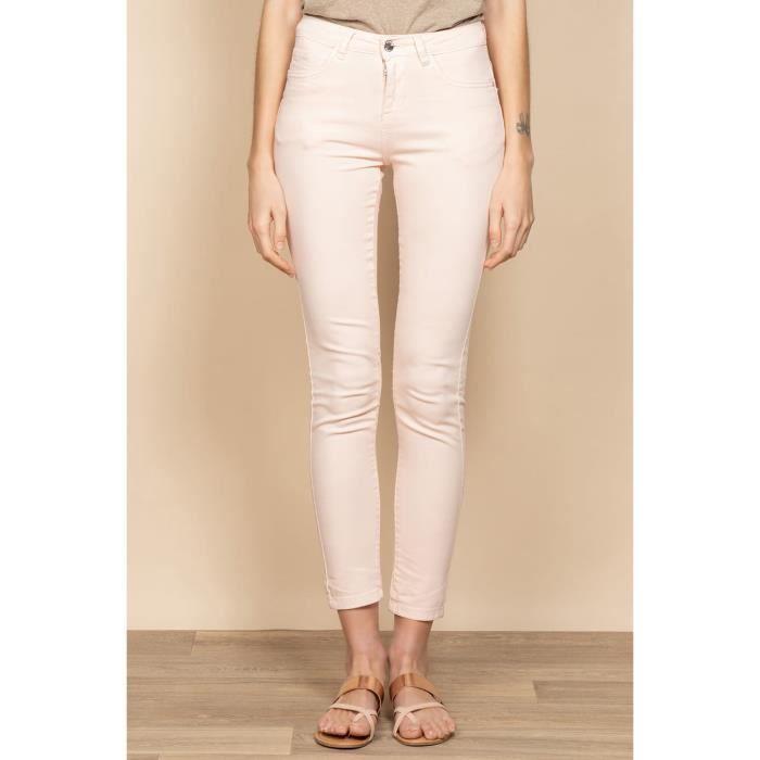 DEELUXE Pantalon slim 5 poches PIME Cream