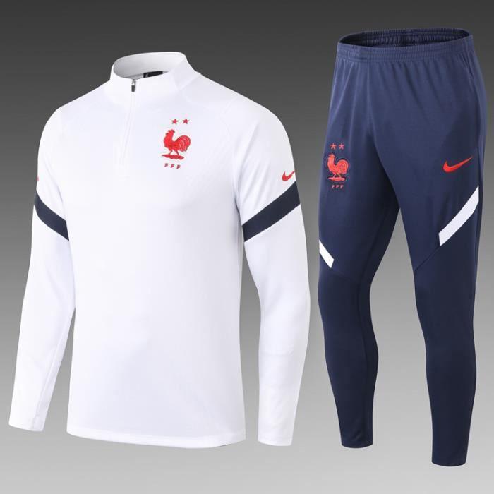 Survêtement de Foot Homme 2020-2021 Nouveau Maillot de Football Pas Cher Survet Kit