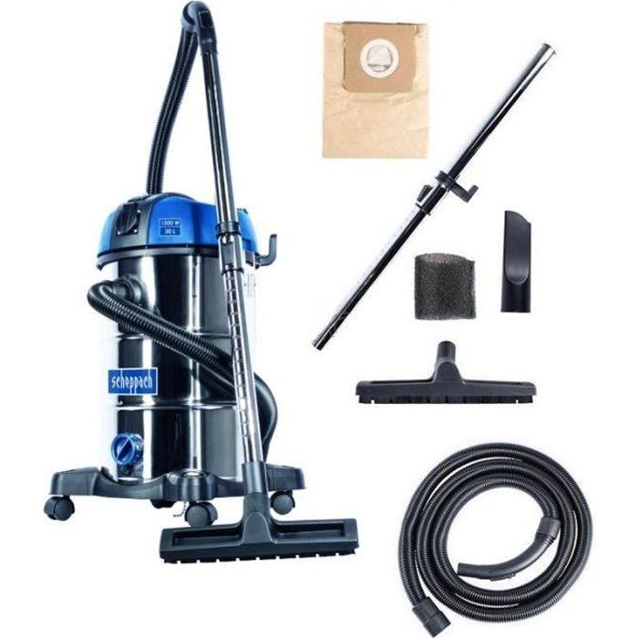 Aspirateur eau et poussière SCHEPPACH 30L - 1300W - NTS30 Premium