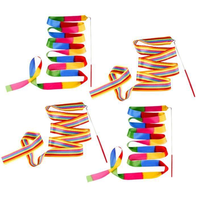 4 PCs ruban gymnastique réglable sangles colorées Streamer accessoire de performance avec RUBAN THERMIQUE - PAPIER THERMIQUE