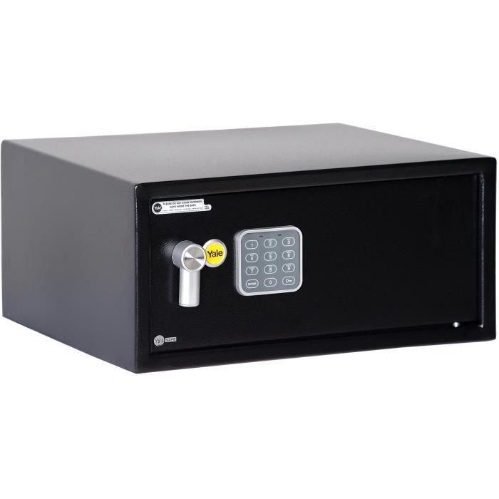 Yale YLV/200/DB1 Coffre-Fort Electronique en Acier, Code + Clés, Format Ordinateur 20 x 43 x 35 cm (23,9L)