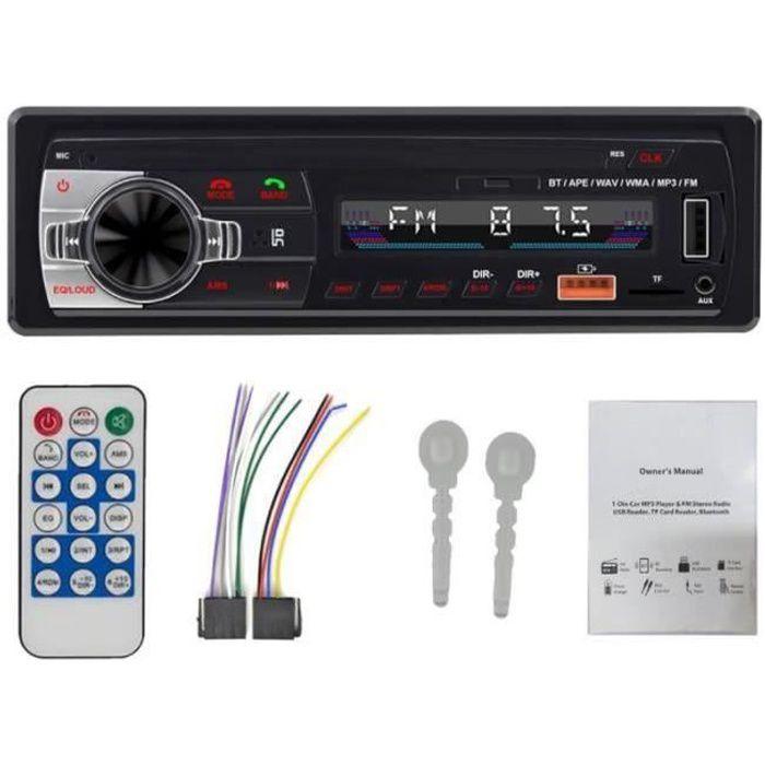QQ39309-Autoradio Bluetooth Autoradio Radio FM Aux EntréE RéCepteur SD USB 12V In-Dash 1 Din Voiture MP3 Lecteur MultiméDia Port I