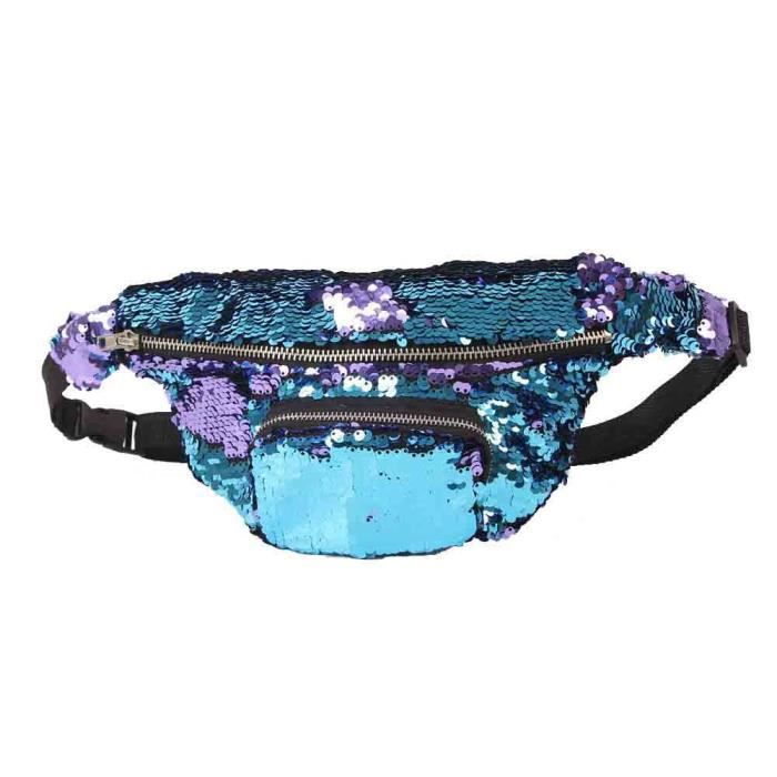 Sports Double Huo11737 Couleur Paillettes De Plein Casual Air Pack Unisexe Waist rrvwPY