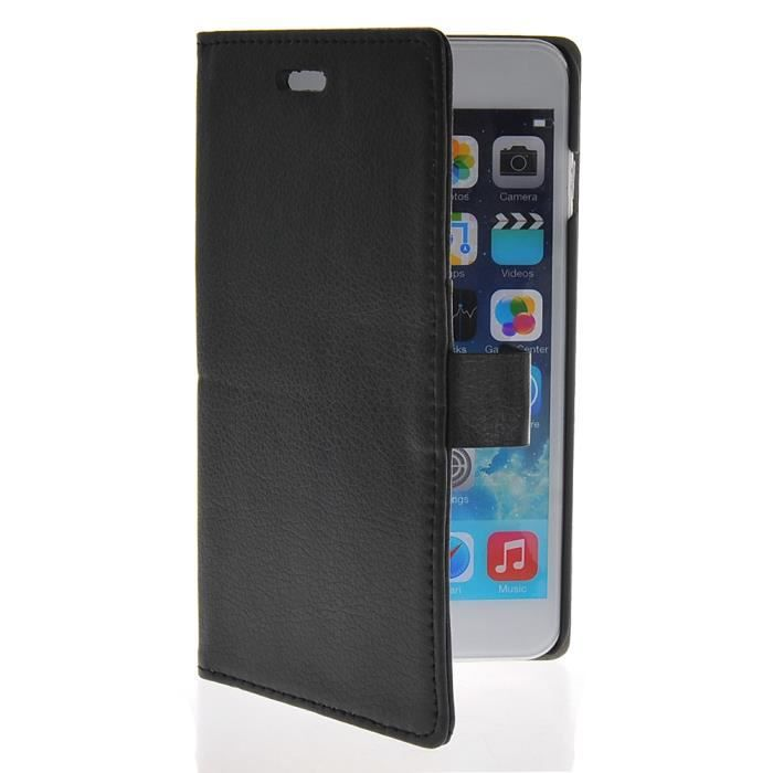 Mooncase coque en cuir portefeuille housse de protection for Coque iphone 6 portefeuille