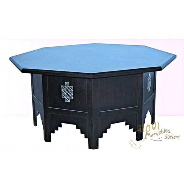 grande table octogonale marocaine en bois de h achat. Black Bedroom Furniture Sets. Home Design Ideas