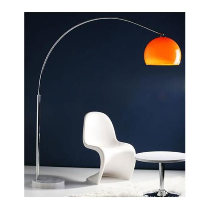 lampe arc small orange hauteur 170cm achat vente. Black Bedroom Furniture Sets. Home Design Ideas