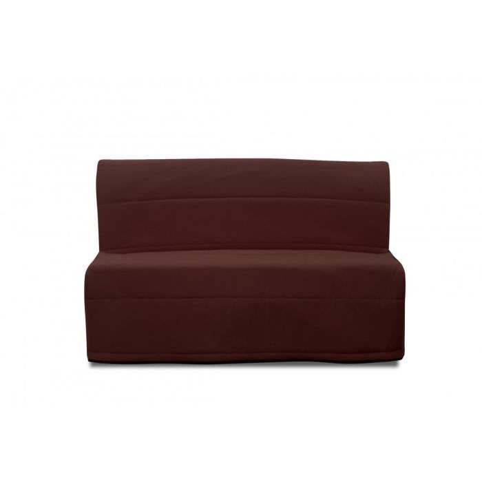 banquette bz mexico 1 2 places motif chocolat achat. Black Bedroom Furniture Sets. Home Design Ideas