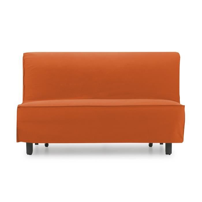 canap lit jessa orange achat vente canap sofa. Black Bedroom Furniture Sets. Home Design Ideas