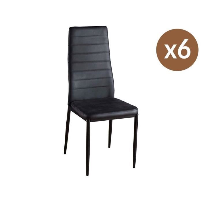 CHAISE Lot De 6 Chaises Lina